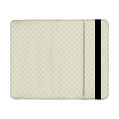 Rich Cream Stitched And Quilted Pattern Samsung Galaxy Tab Pro 8 4  Flip Case by PodArtist