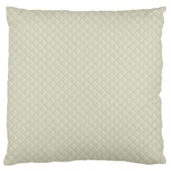 Rich Cream Stitched And Quilted Pattern Large Flano Cushion Case (two Sides) by PodArtist