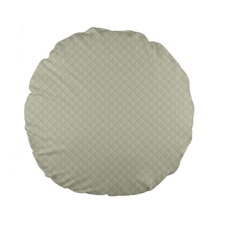 Rich Cream Stitched and Quilted Pattern Standard 15  Premium Flano Round Cushions