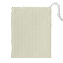 Rich Cream Stitched And Quilted Pattern Drawstring Pouches (xxl) by PodArtist