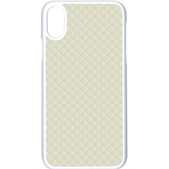 Rich Cream Stitched And Quilted Pattern Apple Iphone X Seamless Case (white)