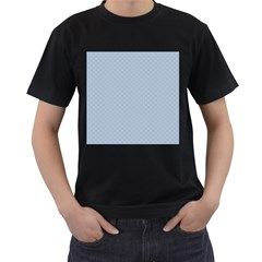 Powder Blue Stitched And Quilted Pattern Men s T-shirt (black) by PodArtist