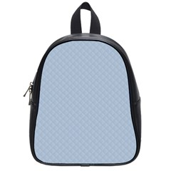 Powder Blue Stitched And Quilted Pattern School Bag (small) by PodArtist