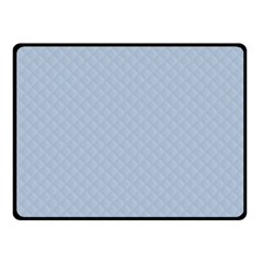 Powder Blue Stitched And Quilted Pattern Fleece Blanket (small) by PodArtist