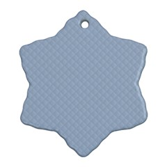 Powder Blue Stitched And Quilted Pattern Ornament (snowflake) by PodArtist