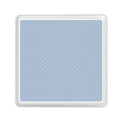Powder Blue Stitched And Quilted Pattern Memory Card Reader (square)  by PodArtist