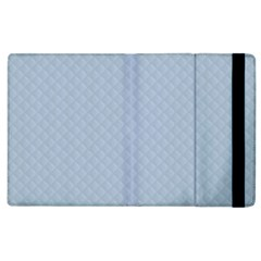 Powder Blue Stitched And Quilted Pattern Apple Ipad 2 Flip Case by PodArtist