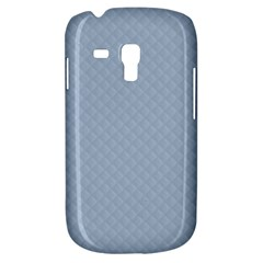 Powder Blue Stitched And Quilted Pattern Galaxy S3 Mini by PodArtist