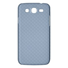 Powder Blue Stitched And Quilted Pattern Samsung Galaxy Mega 5 8 I9152 Hardshell Case  by PodArtist