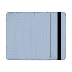 Powder Blue Stitched And Quilted Pattern Samsung Galaxy Tab Pro 8 4  Flip Case by PodArtist