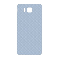 Powder Blue Stitched And Quilted Pattern Samsung Galaxy Alpha Hardshell Back Case by PodArtist