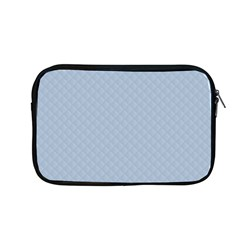 Powder Blue Stitched And Quilted Pattern Apple Macbook Pro 13  Zipper Case by PodArtist