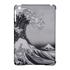 Black And White Japanese Great Wave Off Kanagawa By Hokusai Apple Ipad Mini Hardshell Case (compatible With Smart Cover) by PodArtist