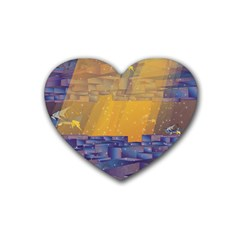 Up Down City Heart Coaster (4 Pack)  by berwies