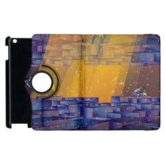Up Down City Apple Ipad 2 Flip 360 Case by berwies