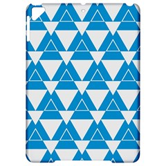 Blue & White Triangle Pattern  Apple Ipad Pro 9 7   Hardshell Case by berwies