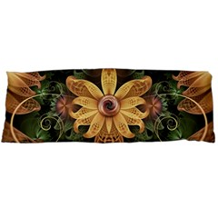 Beautiful Filigree Oxidized Copper Fractal Orchid Body Pillow Case Dakimakura (two Sides) by jayaprime