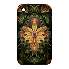 Beautiful Filigree Oxidized Copper Fractal Orchid Iphone 3s/3gs by jayaprime