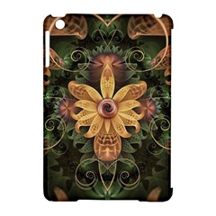 Beautiful Filigree Oxidized Copper Fractal Orchid Apple Ipad Mini Hardshell Case (compatible With Smart Cover) by jayaprime