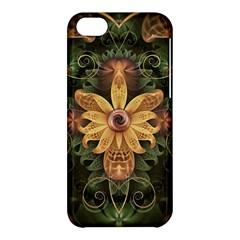 Beautiful Filigree Oxidized Copper Fractal Orchid Apple Iphone 5c Hardshell Case by jayaprime
