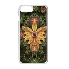 Beautiful Filigree Oxidized Copper Fractal Orchid Apple Iphone 8 Plus Seamless Case (white) by jayaprime