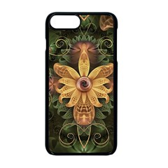 Beautiful Filigree Oxidized Copper Fractal Orchid Apple Iphone 8 Plus Seamless Case (black) by jayaprime