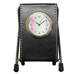 Pattern Pen Holder Desk Clocks by gasi