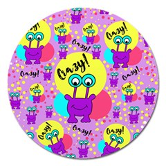 Crazy Magnet 5  (round) by gasi