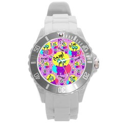 Crazy Round Plastic Sport Watch (l) by gasi