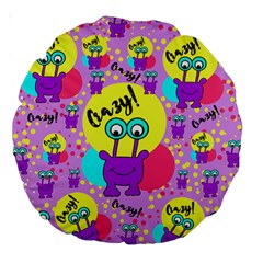 Crazy Large 18  Premium Round Cushions by gasi