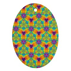Pattern Oval Ornament (two Sides) by gasi
