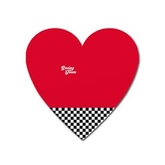 Racing Team Heart Magnet by gasi