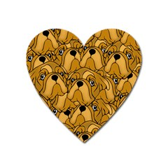 Bulldogge Heart Magnet by gasi