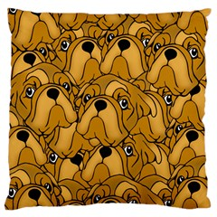 Bulldogge Large Cushion Case (two Sides) by gasi