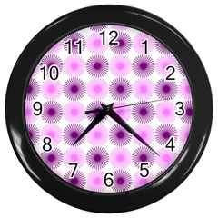 Pattern Wall Clocks (black) by gasi