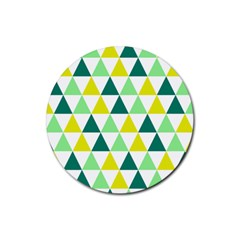 Pattern Rubber Round Coaster (4 Pack)  by gasi
