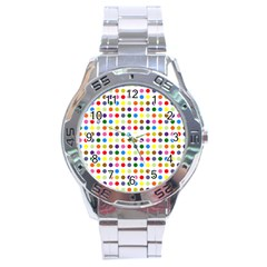 Pattern Stainless Steel Analogue Watch by gasi