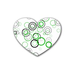 Pattern Heart Coaster (4 Pack)  by gasi
