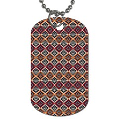 Native American Pattern 4 Dog Tag (two Sides) by Cveti