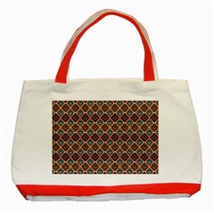 Native American Pattern 4 Classic Tote Bag (red) by Cveti