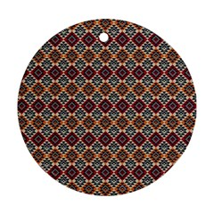 Native American Pattern 4 Round Ornament (two Sides) by Cveti