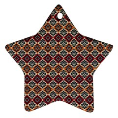 Native American Pattern 4 Star Ornament (two Sides) by Cveti