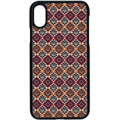 Native American Pattern 4 Apple Iphone X Seamless Case (black) by Cveti