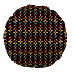Native American Pattern Large 18  Premium Round Cushions by Cveti