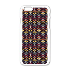 Native American Pattern Apple Iphone 6/6s White Enamel Case by Cveti