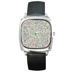 Pattern Square Metal Watch by gasi