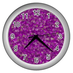 Pattern Wall Clocks (silver)  by gasi
