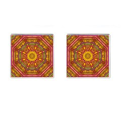 Sunshine Mandala And Other Golden Planets Cufflinks (square) by pepitasart