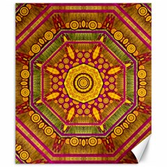 Sunshine Mandala And Other Golden Planets Canvas 20  X 24   by pepitasart