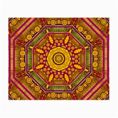 Sunshine Mandala And Other Golden Planets Small Glasses Cloth (2-side) by pepitasart